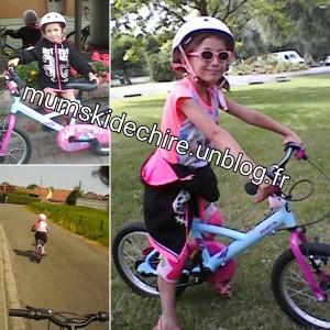 Ma MimissiQ en vélo très fier d'elle
